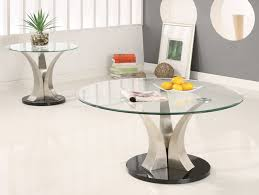 Glass Coffee Table Set Simple Round Glass Coffee Table Sets For Your Home Designing
