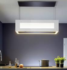 hotte de cuisine design hotte de cuisine îlot design original avec éclairage intégré
