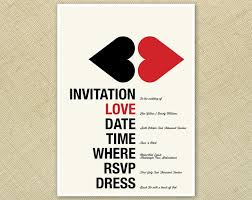 cool wedding invitations wedding invitation retro hearts black funky
