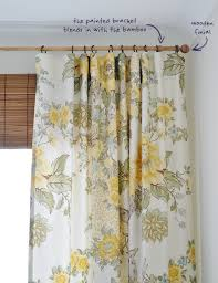 Painted Bamboo Curtains The Painted Hive Quilt Cover Curtains And A Faux Bamboo Blind