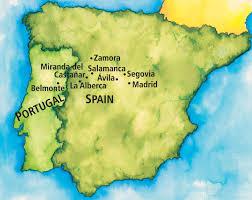 Salamanca Spain Map by Madrid Lifestyles Explorations The Ohio State University Alumni