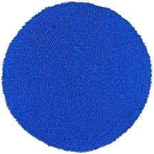 Pottery Barn Chenille Rug by Round Chenille Rug Blue Matador Leather Chindi 3 X3 Round Rug