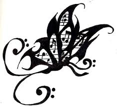 butterfly music tattoo design by ayame2 on deviantart