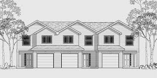 multi family house plans triplex triplex multi family plan 3 bedroom 1 car garage