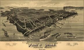 Map Portland Maine by Peak U0027s Island Portland Harbor Maine 1886