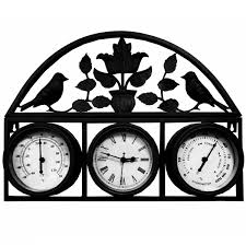 Shabby Chic Wall Clocks by Bentley Garden Shabby Chic Garden Clock With Thermometer