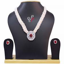 pearl ruby necklace images Pearl necklace sets braided pearl necklace set in seed pearls jpg