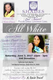 s h a d e s 2nd annual purple dress luncheon goes all white