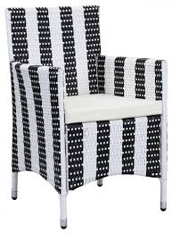 Black And White Striped Chair by Patio Chairs Pe Rattan Outdoor Chair Safavieh Com