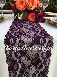 plum wedding plum weddings plum lace table runner 3ft 10ft x 7 wide wedding