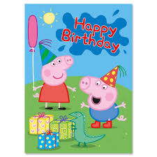 peppa pig birthday peppa pig george birthday card party ark