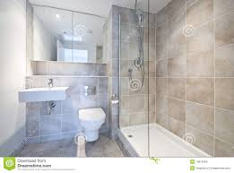 modern en suite bathroom with large shower royalty free stock