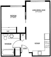 one bedroom cottage floor plans best floor plans one bedroom office layout floor plan template