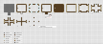 minecraft small modern house blueprints