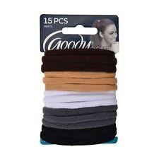 goody hair ties 15 goody ouchless gentle fit soft fabric terry elastic no metal