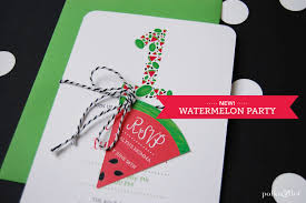 watermelon invitations polka u0026dot