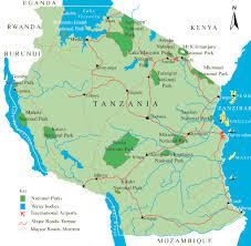 Tanzania Map Tanzania Destination Information Elida Tours U0026 Safaris
