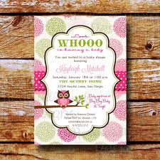 photo baby shower invitation owl image