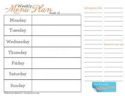 printable menu planner pages meal planner sheets gidiye redformapolitica co