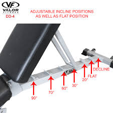 Incline And Decline Bench Dd 4 Flat Incline Decline Fid Adjustable Utility Bench Valor