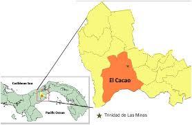 Map Of Trinidad Map Of Panamá Showing The Location Of Trinidad De Las Minas