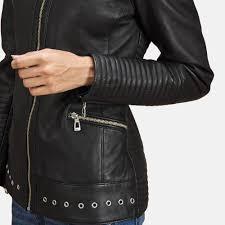 leather biker jacket womens haley ray black leather biker jacket