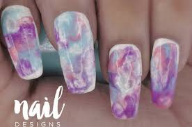 marble nail art tutorial super easy chic design