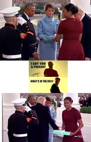 Whats In The Box Meme - what s in the box side eyeing michelle obama know your meme