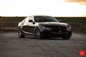 custom maserati ghibli black maserati ghibli looking fly on custom polished silver wheels