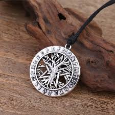 shop dawapara viking jewelry runes tree of necklace