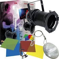 Used Dj Lighting Adj American Dj 64 Black Combo Complete Par Light Kit Pssl