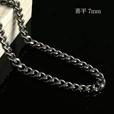 titanium men mysta rakuten global market titanium necklace titanium kihei 7 mm