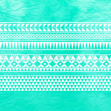 abstract geometric turquoise mint teal tribal aztec pattern