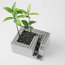 handmade concrete architectural square succulent planter plant