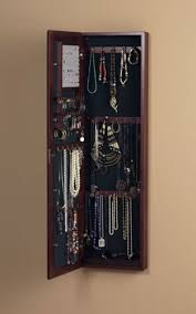 Wall Mirror Jewelry Storage Jewelry Storage For Small Spaces Fits In Your Tiny House Or Cottage