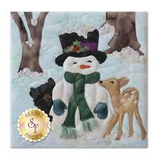 snow buds quilt kit pre fused u0026 laser cut