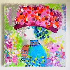 Tableau Abstrait Rouge Et Gris by Tableau Femme Abstrait Peinture Femme Coloree Toile Moderne