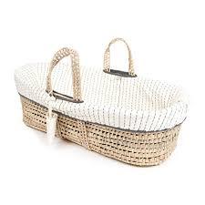 Baby Moses Basket Bedding Set Tadpoles Line Stitched Moses Basket And Bedding Set Grey Baby