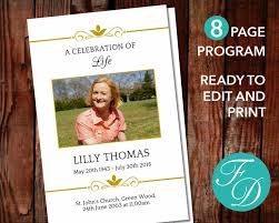 111 best 8 page funeral program templates images on pinterest