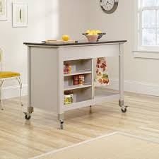 sauder kitchen furniture original cottage mobile kitchen island cart 414405 sauder