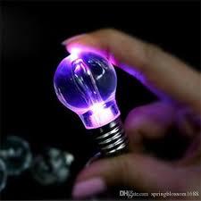 novelty led light bulb shaped ring keychain flashlight colorful mini