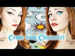 Comic Book Character Halloween Costumes 148 Comic Book Makeup Images Comic Book Makeup