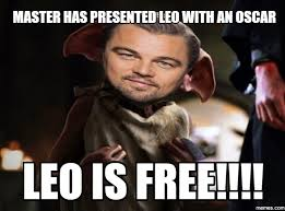 Oscar Memes - master has presented leo with an oscar az meme funny memes funny