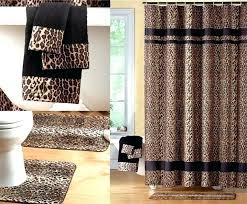 animal print bathroom ideas leopard bathroom sets bathroom sets with shower curtain and rugs