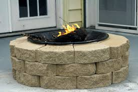 stainless steel fire pit plus affordable paver stack patio firepit