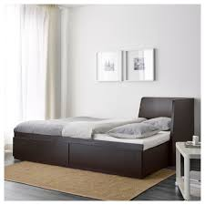 flekke daybed frame with 2 drawers ikea