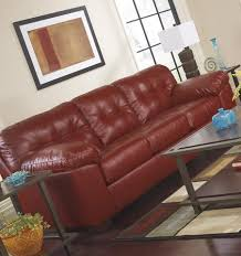 Durablend Leather Sofa Alliston Durablend Contemporary Salsa Color Faux Leather Sofa