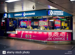 bureau de change office operated by international currency