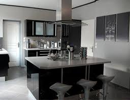 idee deco cuisine grise deco cuisine noir et gris photographie d c3 a9coration
