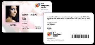 photo card wdsf identity card world dancesport federation at worlddancesport org